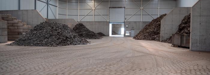 Granitech dekvloer bij recyclingbedrijf Dolphin