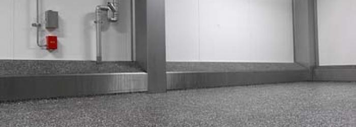 Margia granietvloer met RVS put