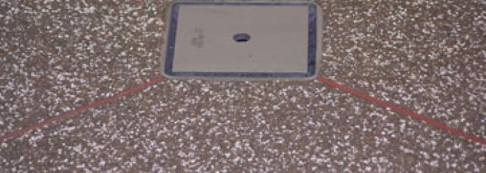 detail afvoerput in margia graniet vloer
