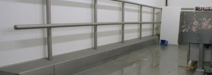 RVS hekwerk met Ucrete vloer